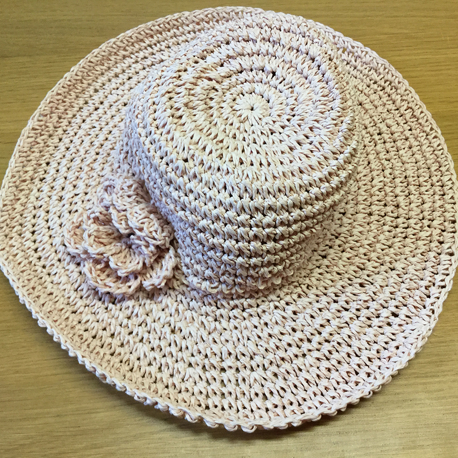d0cb4956 John Lewis Girls' Straw Cloche with corsage Hat, Pink, Age 2-4yrs, RRP  £8.00 (LAST ONE)