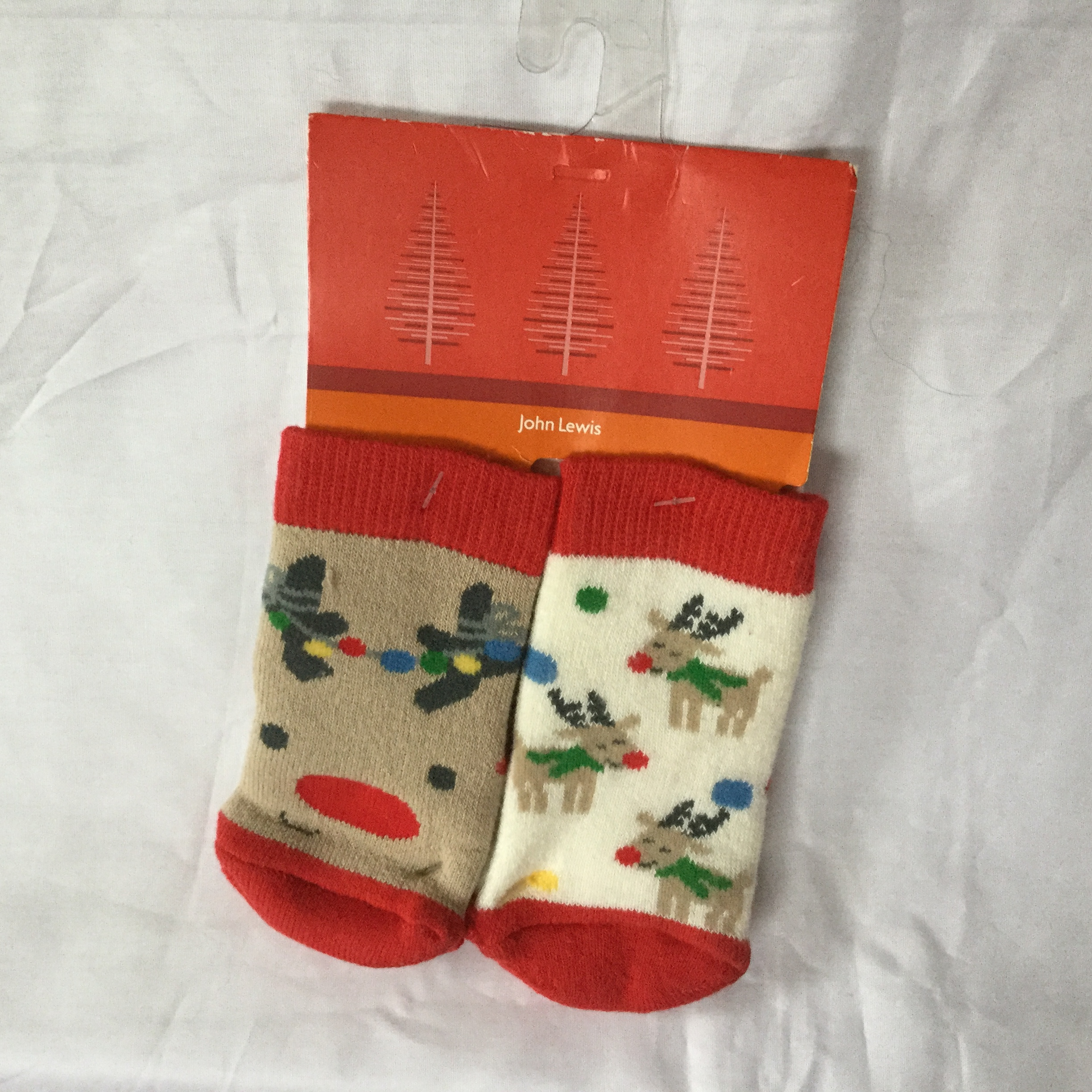 John Lewis 2 pairs of baby Slipper Socks 0 3months BNWT